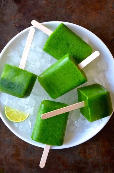 Just A Taste Green Juice Popsicles