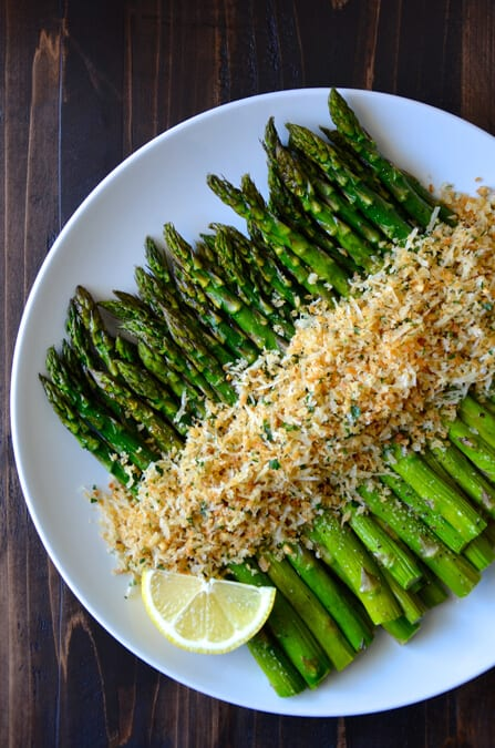 Roasted Asparagus With Cheesy Breadcrumbs Just A Taste