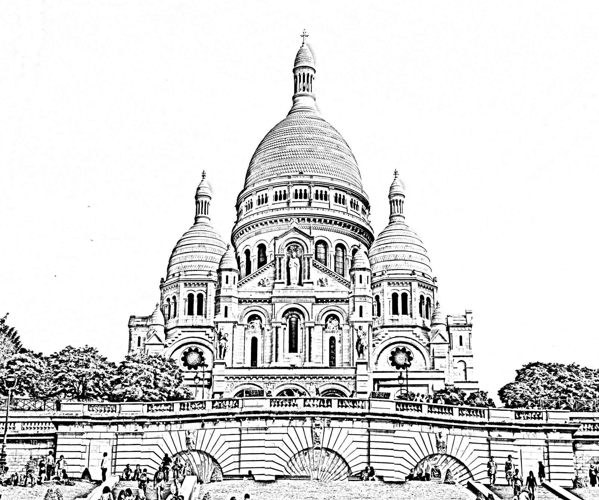 Arc De Triomphe Coloring Pages