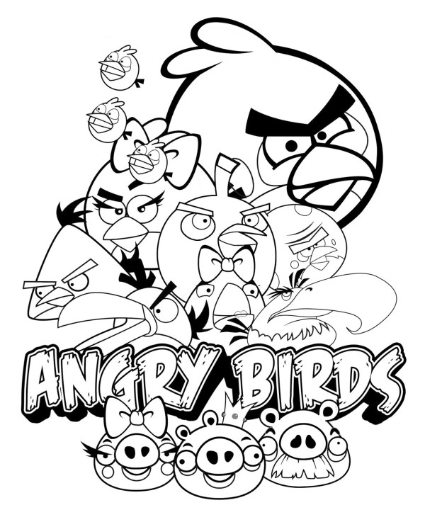 angry bird coloring page # 6