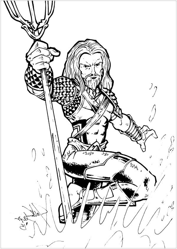 aquaman coloring pages # 4