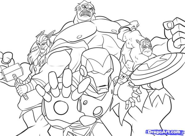 coloring pages avengers # 10