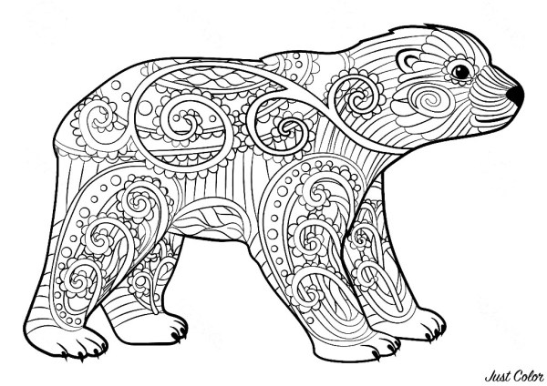 coloring pages of bears # 4