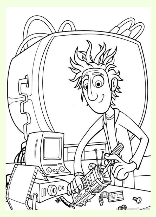 cloudy with a chance of meatballs coloring pages # 4