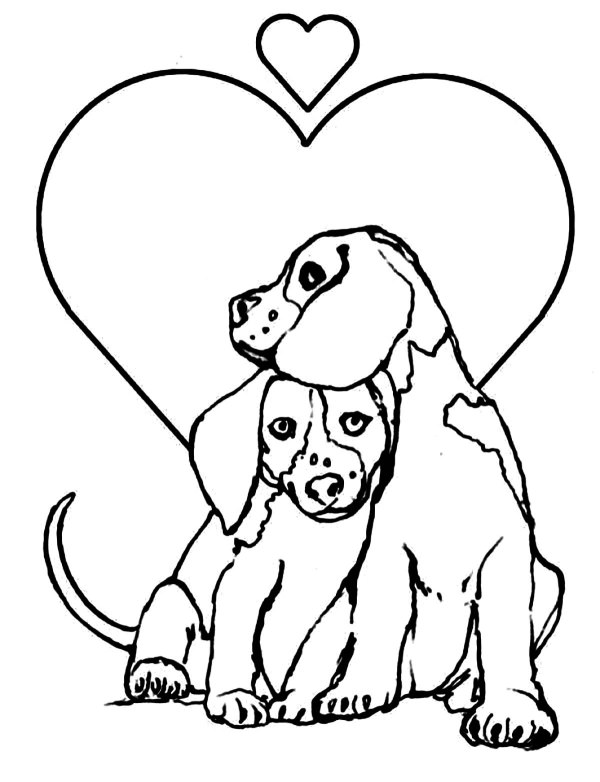 free dog coloring pages # 1