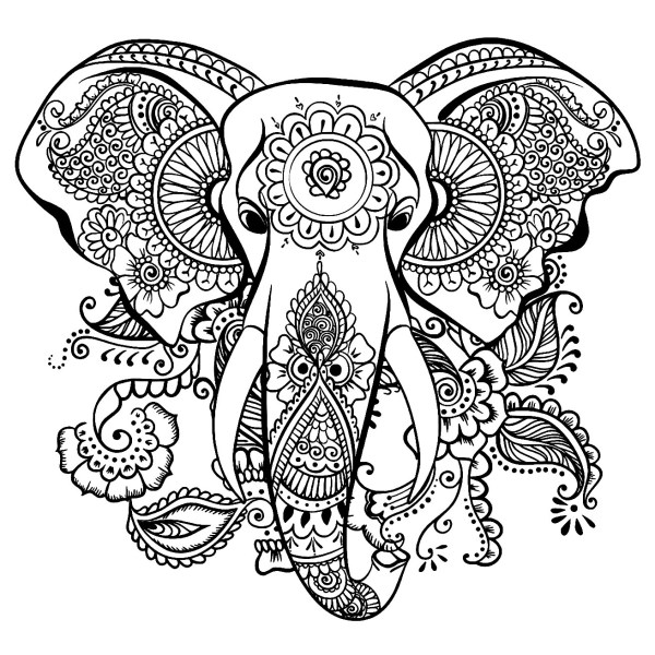 coloring pages of elephants # 10