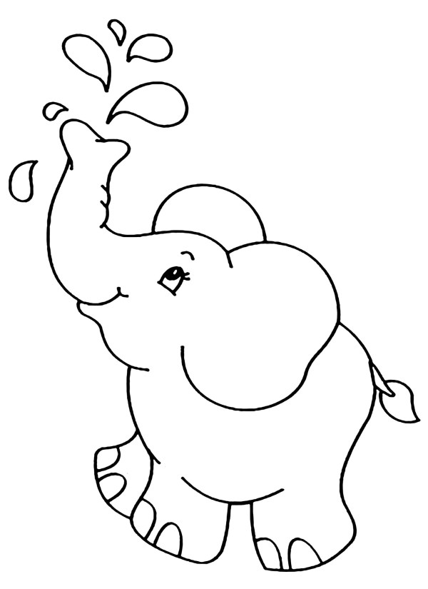 coloring pages elephant # 8