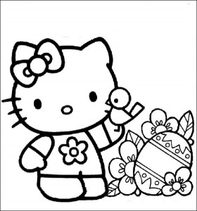 hello kitty coloring pages that you can print # 62