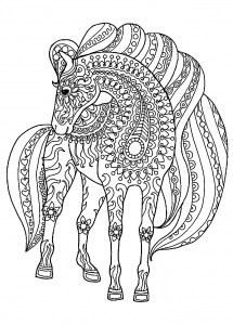 horse coloring pages # 3