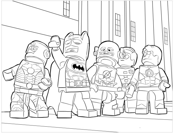 legos coloring pages # 6