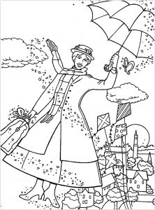 mary poppins coloring pages # 1