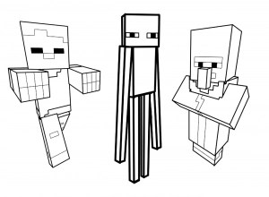 minecraft printable colouring sheets # 54