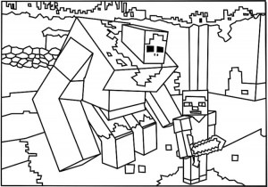minecraft coloring pages to print # 12