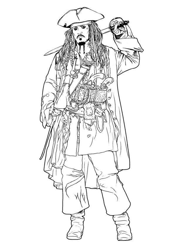 pirates of the caribbean coloring pages # 1