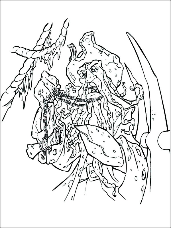 pirates of the caribbean coloring pages # 25