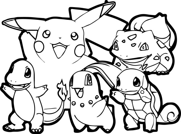 pokeman coloring pages # 4