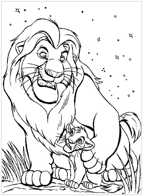 lion king coloring page # 3
