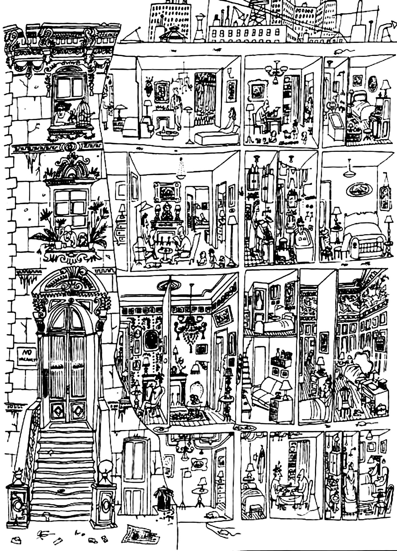 Architecture Drawing Life In A Building Architecture And Living