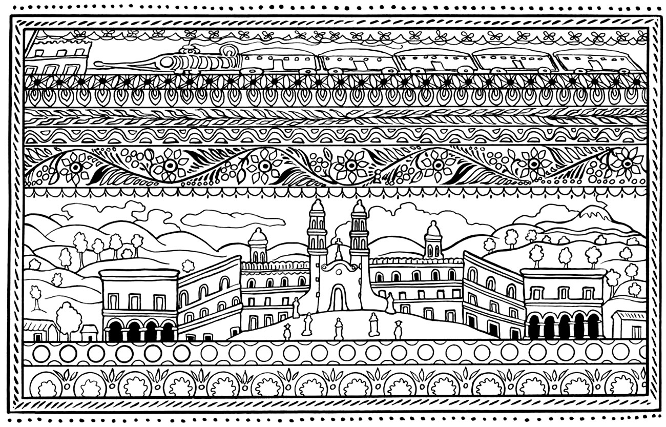 Spanish Architecture Architecture And Living Coloring Pages