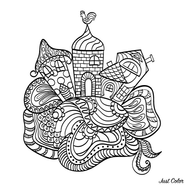 coloring pages of houses # 50