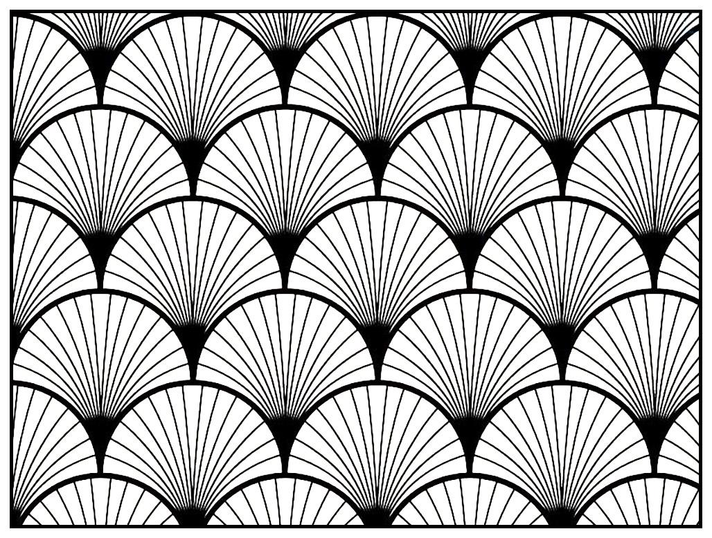 Geometric Patterns Art Deco 2 Art Deco Coloring Pages For