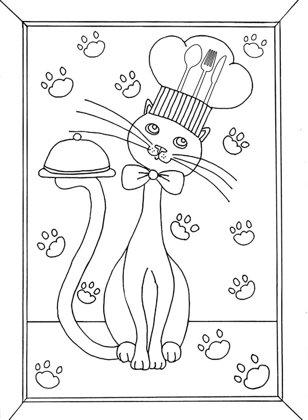 cooking coloring pages # 14