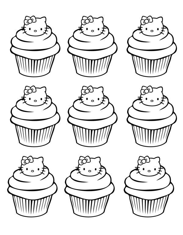 cupcakes coloring pages # 9