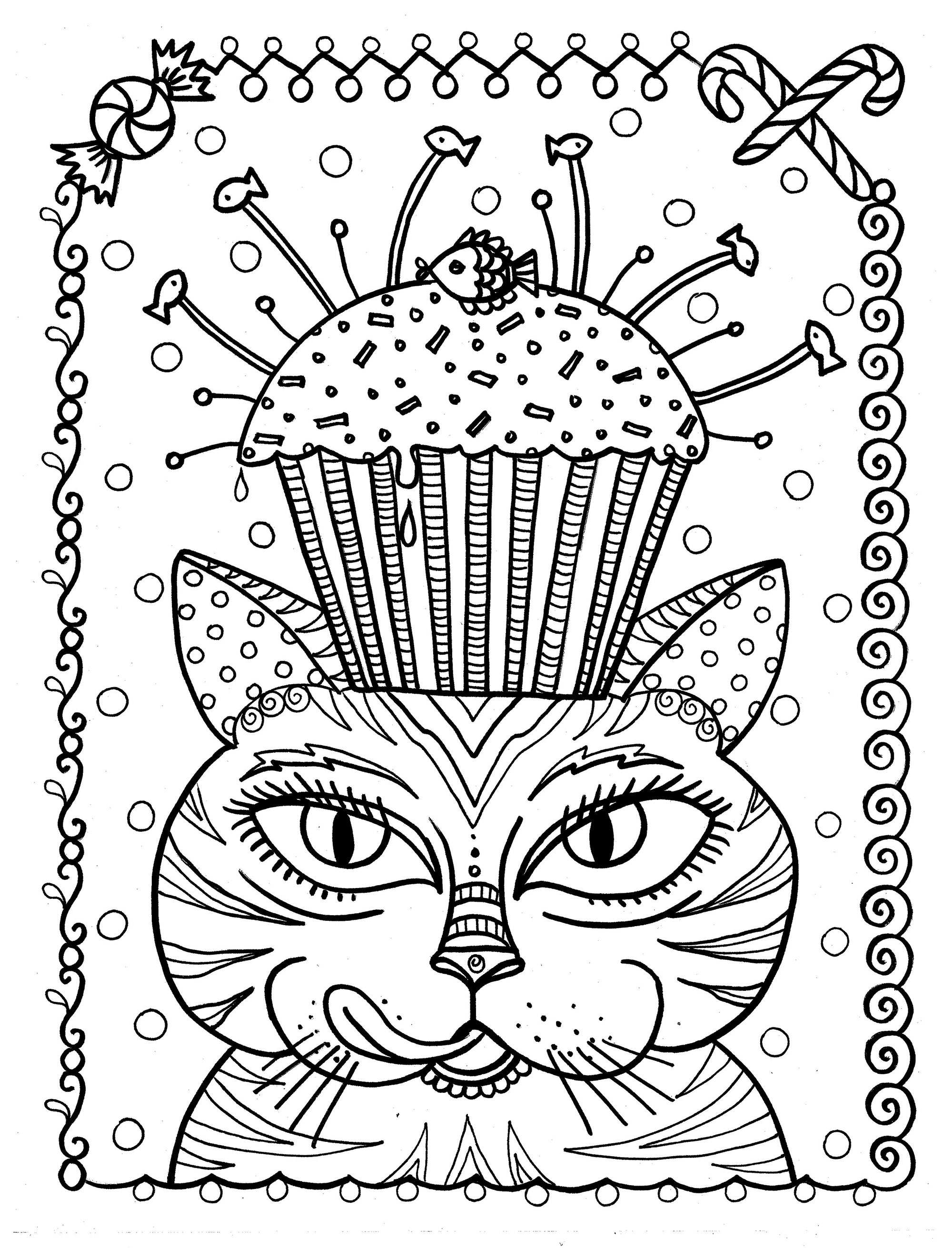 Cup Cake Cat By Deborah Muller Cupcakes And Cakes Coloring