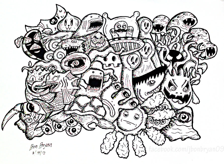Vexx Doodle Coloring Pages