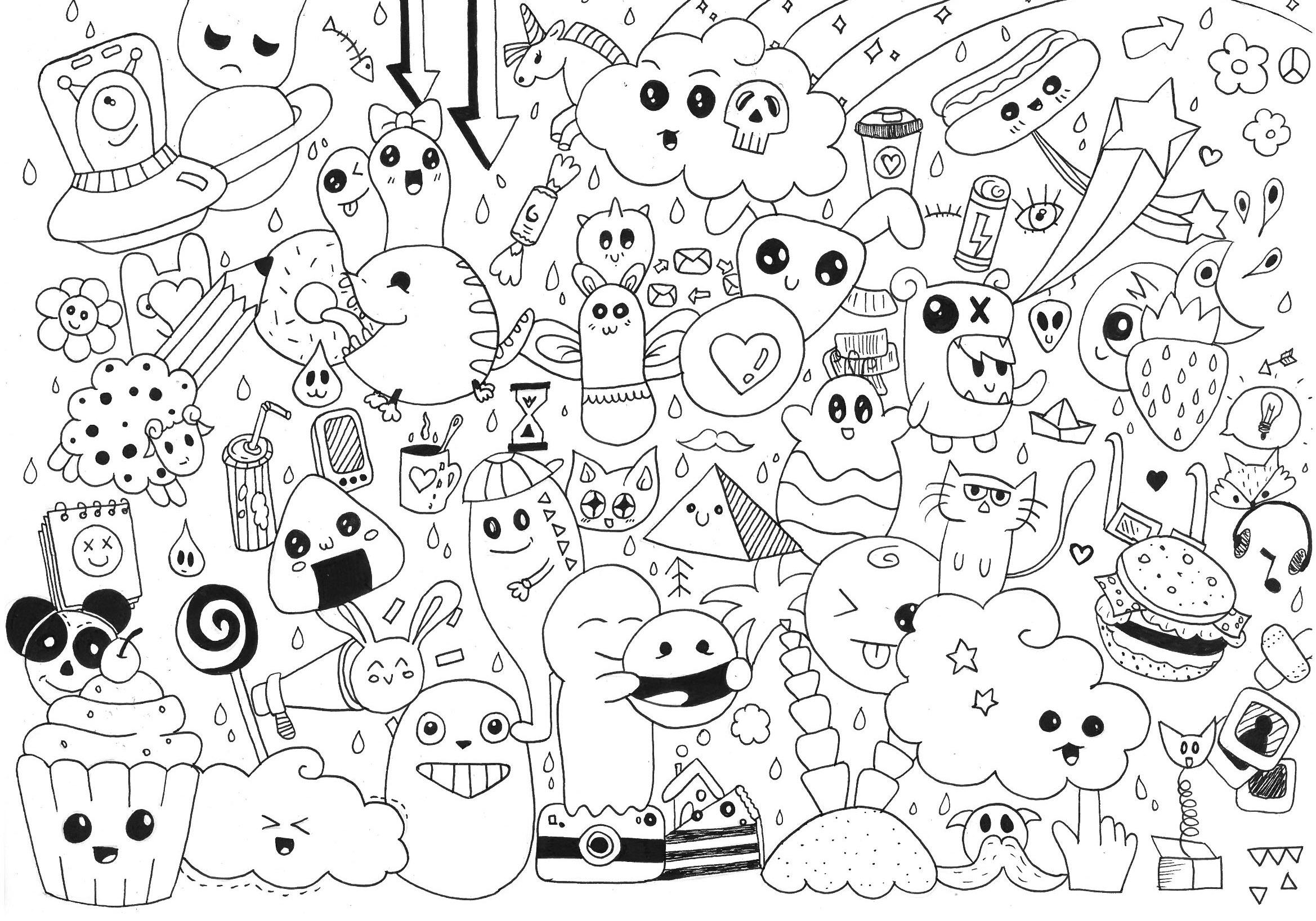 Doodle Rachel Doodling Doodle Art Coloring Pages For Adults