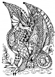 coloring pages dragon # 8