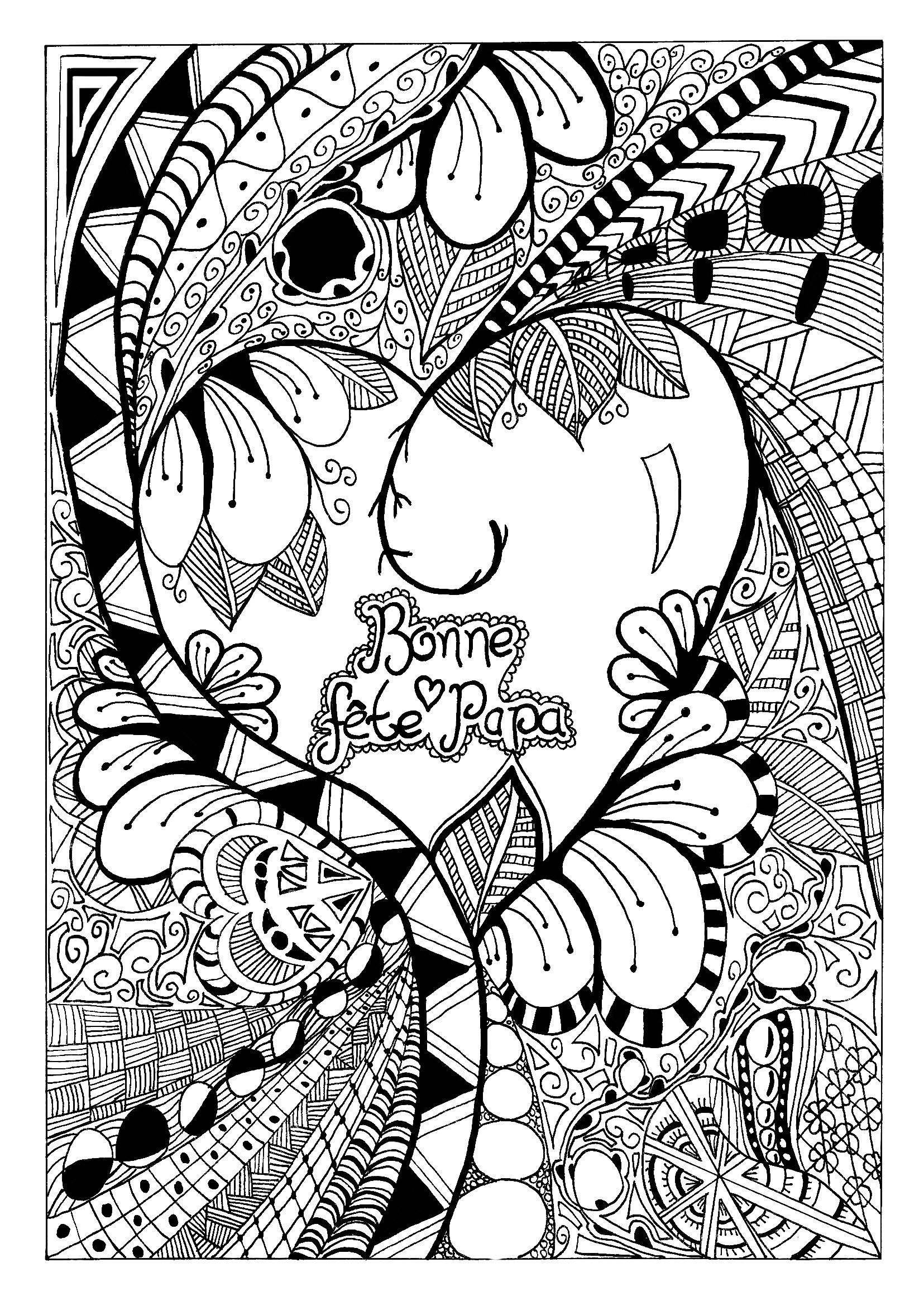 Father Day Zentangle Celine Celebrations Happy Mother