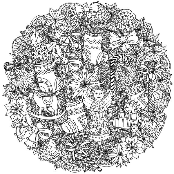 adult christmas coloring pages # 32