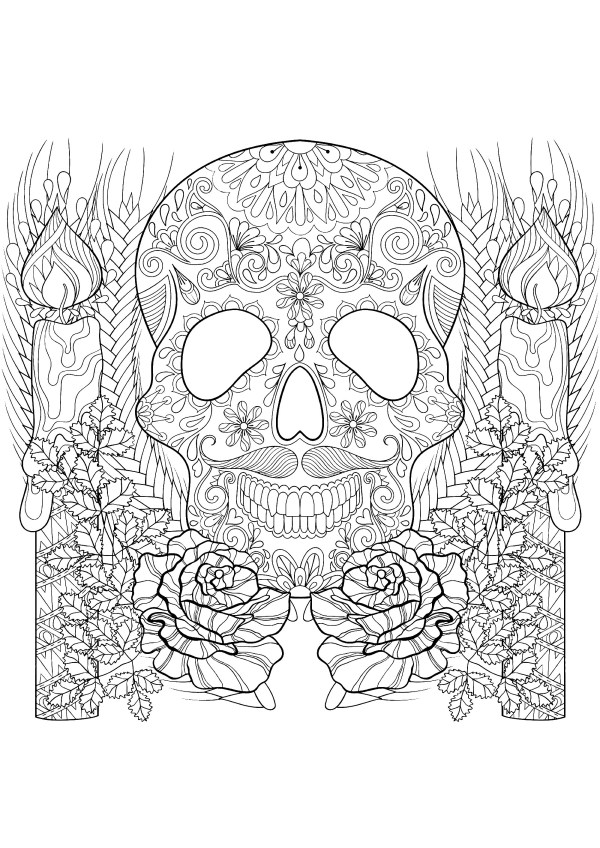 skulls coloring pages # 9