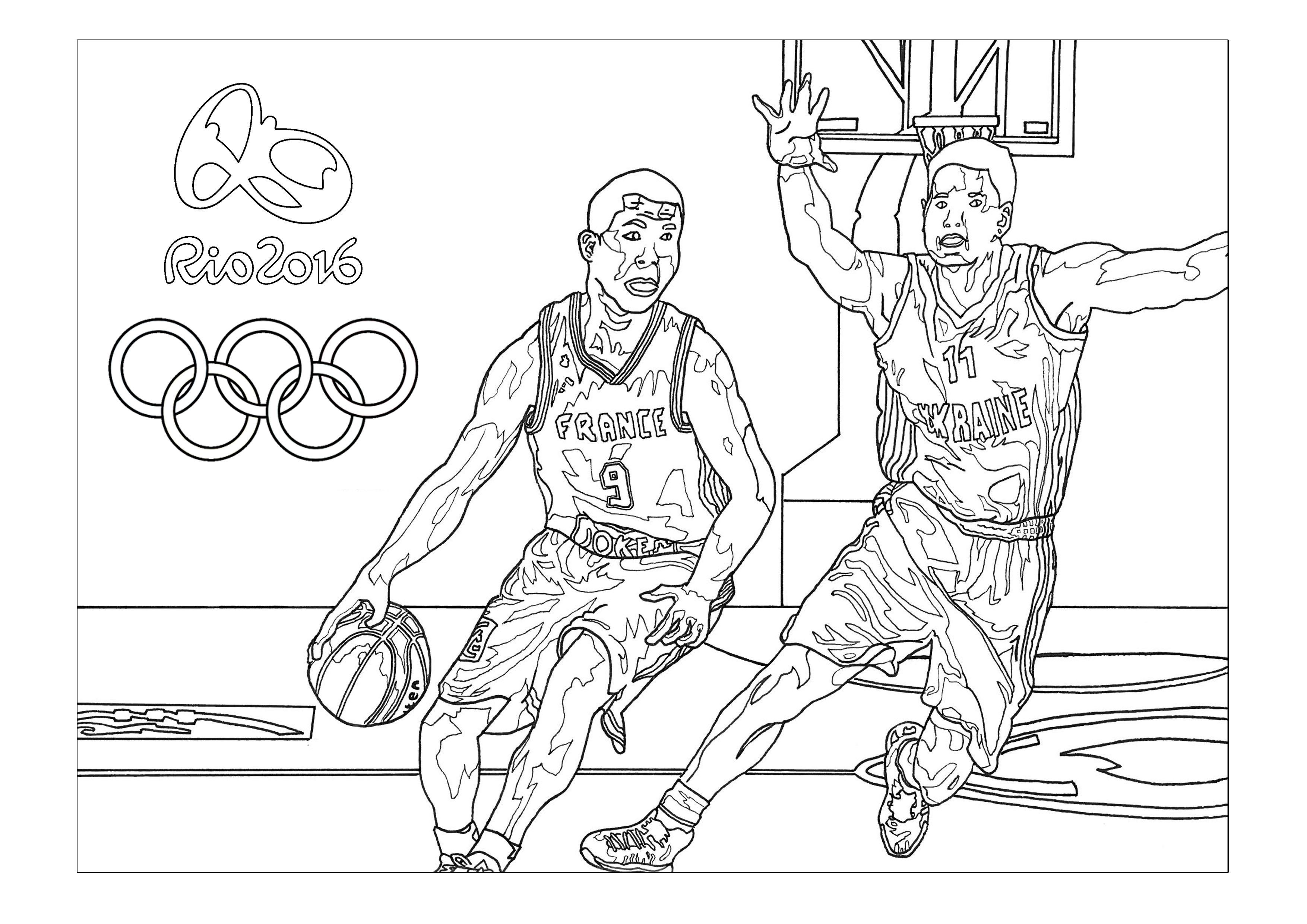Rio 2016 Olympic Games Basketball Olympic And Sport Coloring