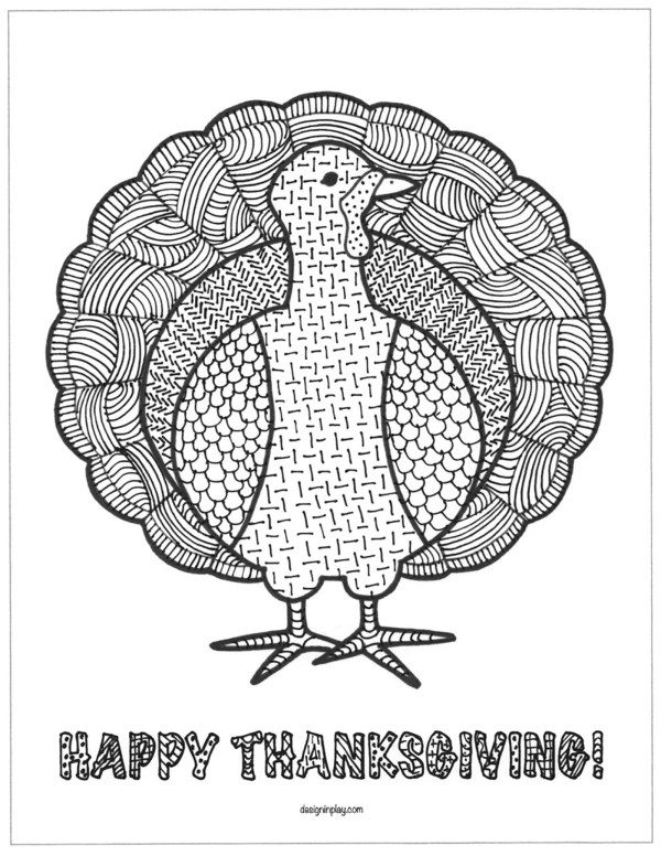 thanksgiving turkey coloring page # 49