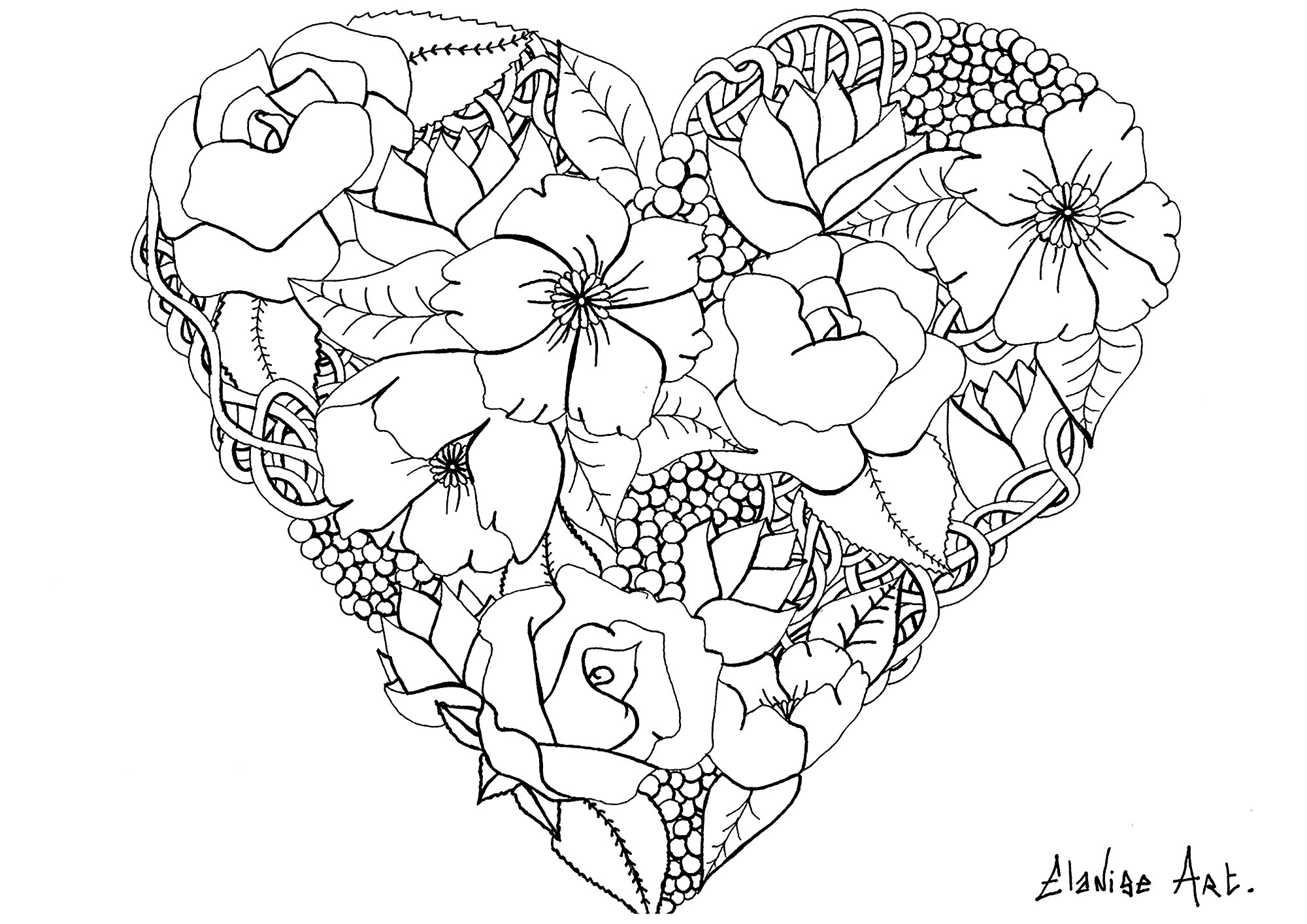 Flowers Vegetation Coloring Pages For Adults Justcolor