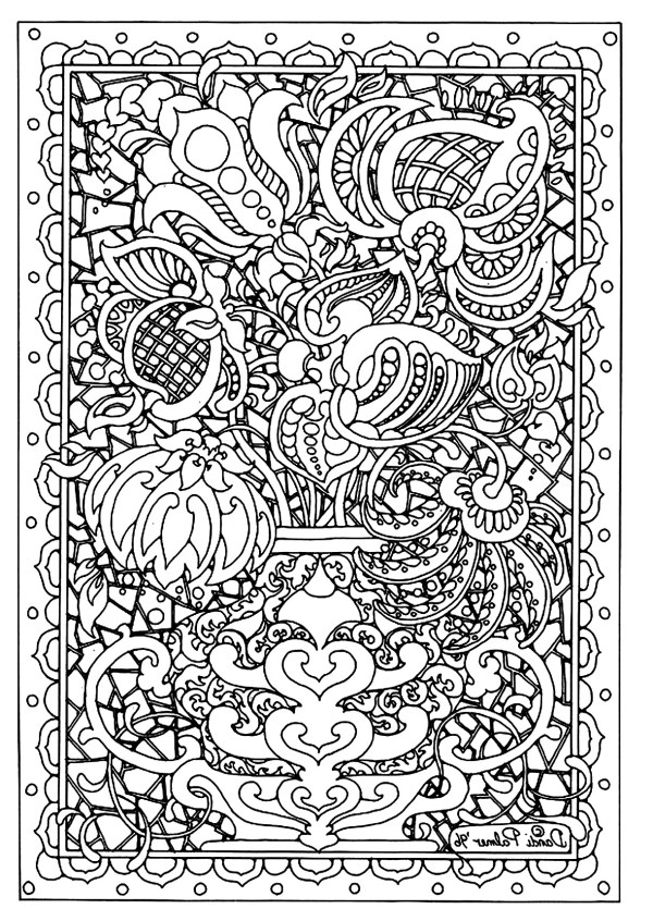 difficult coloring pages for adults # 2