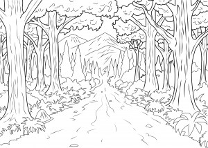 forest coloring page # 5