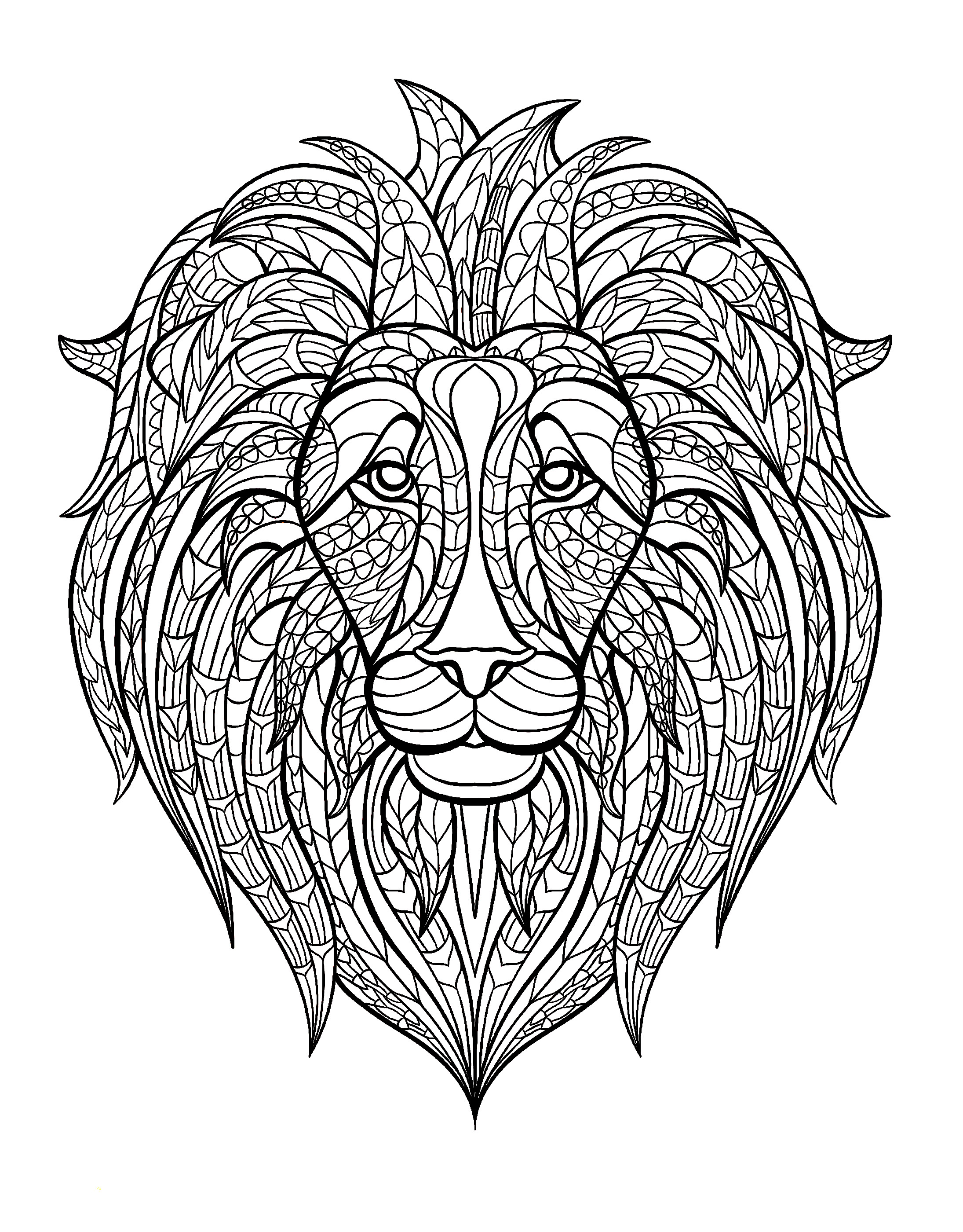 Lion Head Lions Coloring Pages For Adults Justcolor