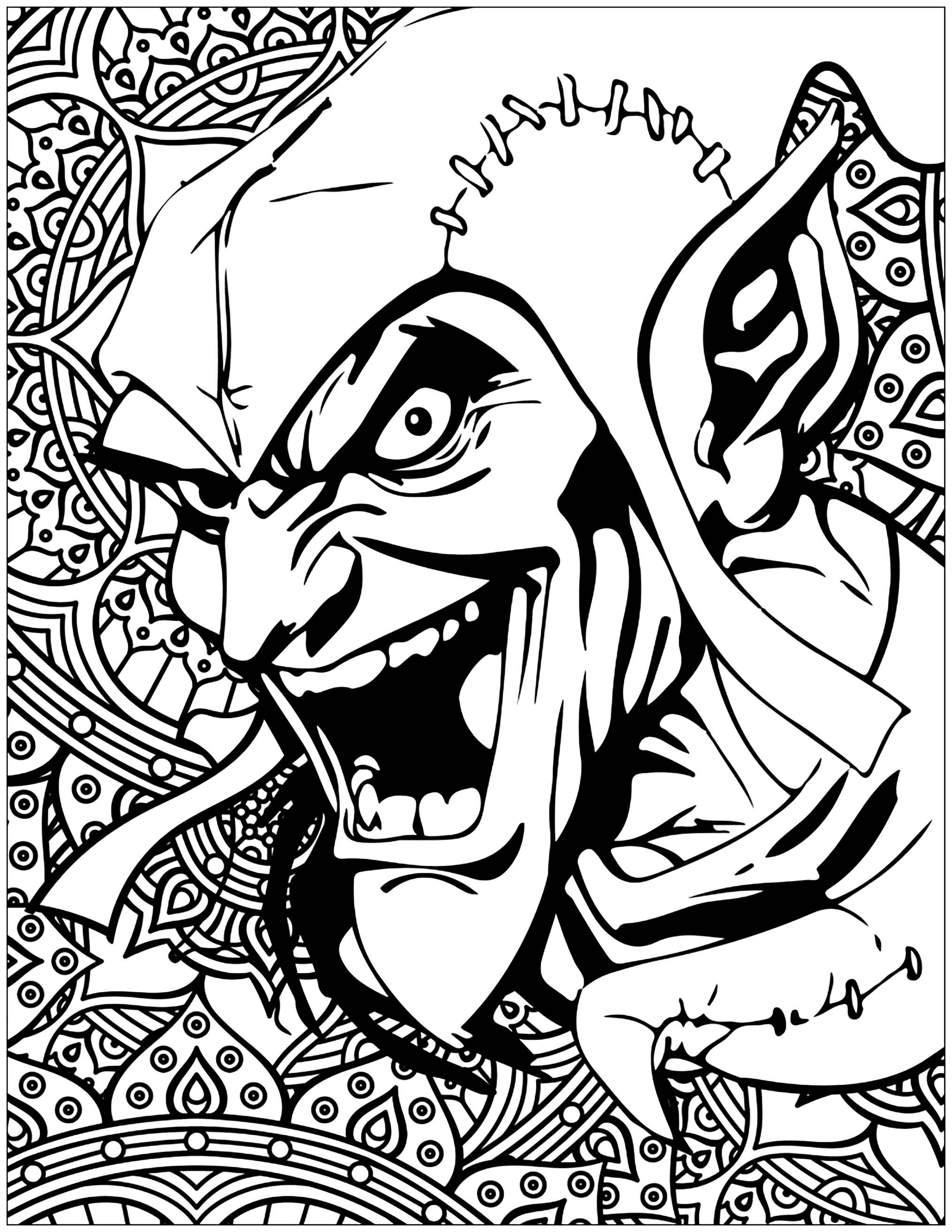 Marvel Villains Green Goblin Books And Ics Coloring Pages