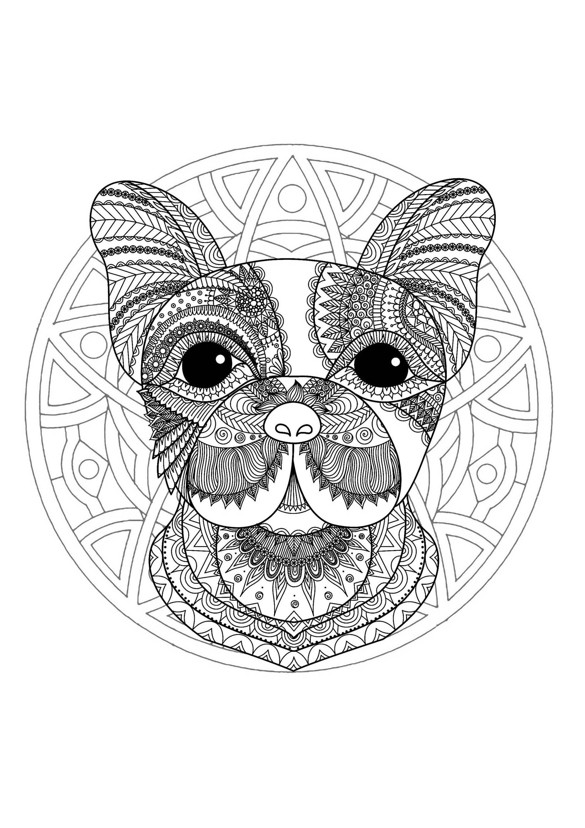Otter Coloring Face Page