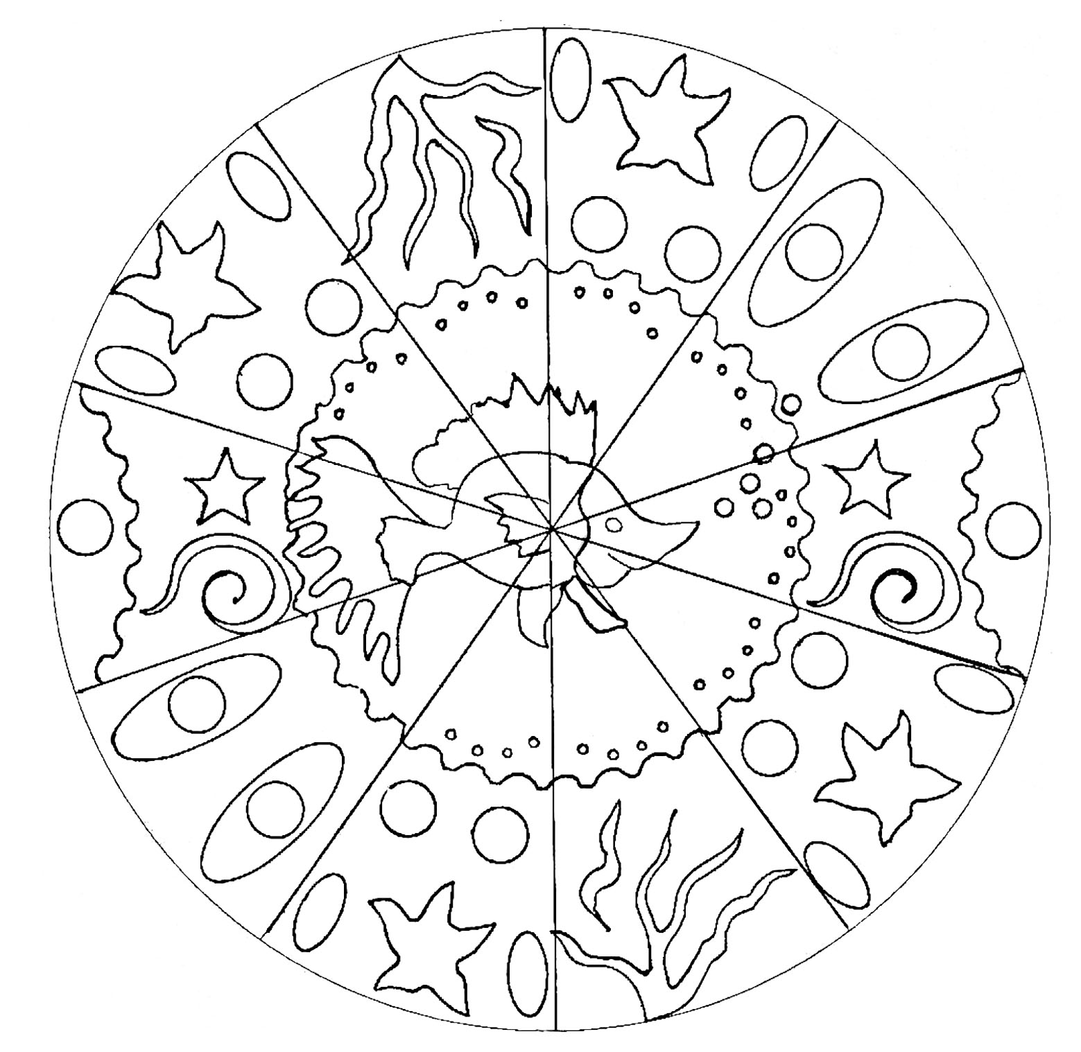 Fish Mandala Mandalas Coloring Pages For Adults Justcolor
