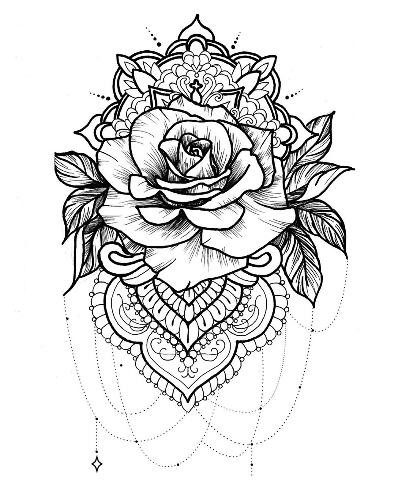 Mandala To Download Free Rose Mandalas Coloring Pages For