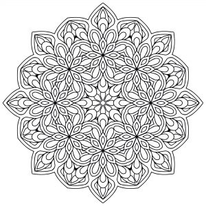 free mandala coloring pages for adults # 19