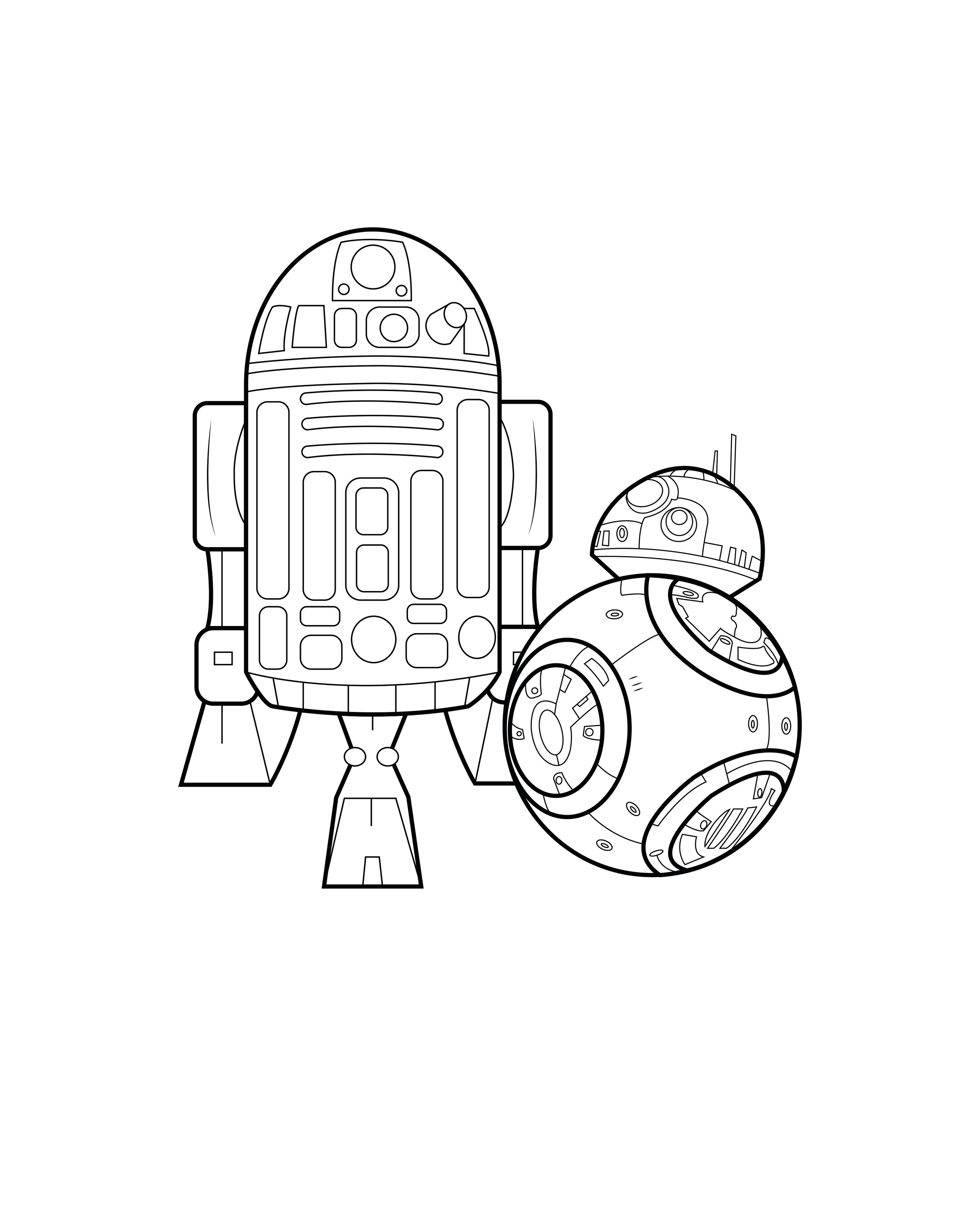 Bb8 R2d2 By Allan Movies Coloring Pages For Adults Justcolor