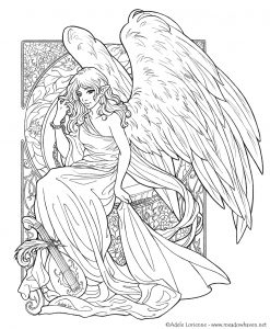 fantasy coloring pages for adults # 5