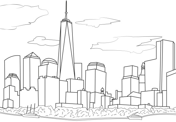 new york coloring pages # 1