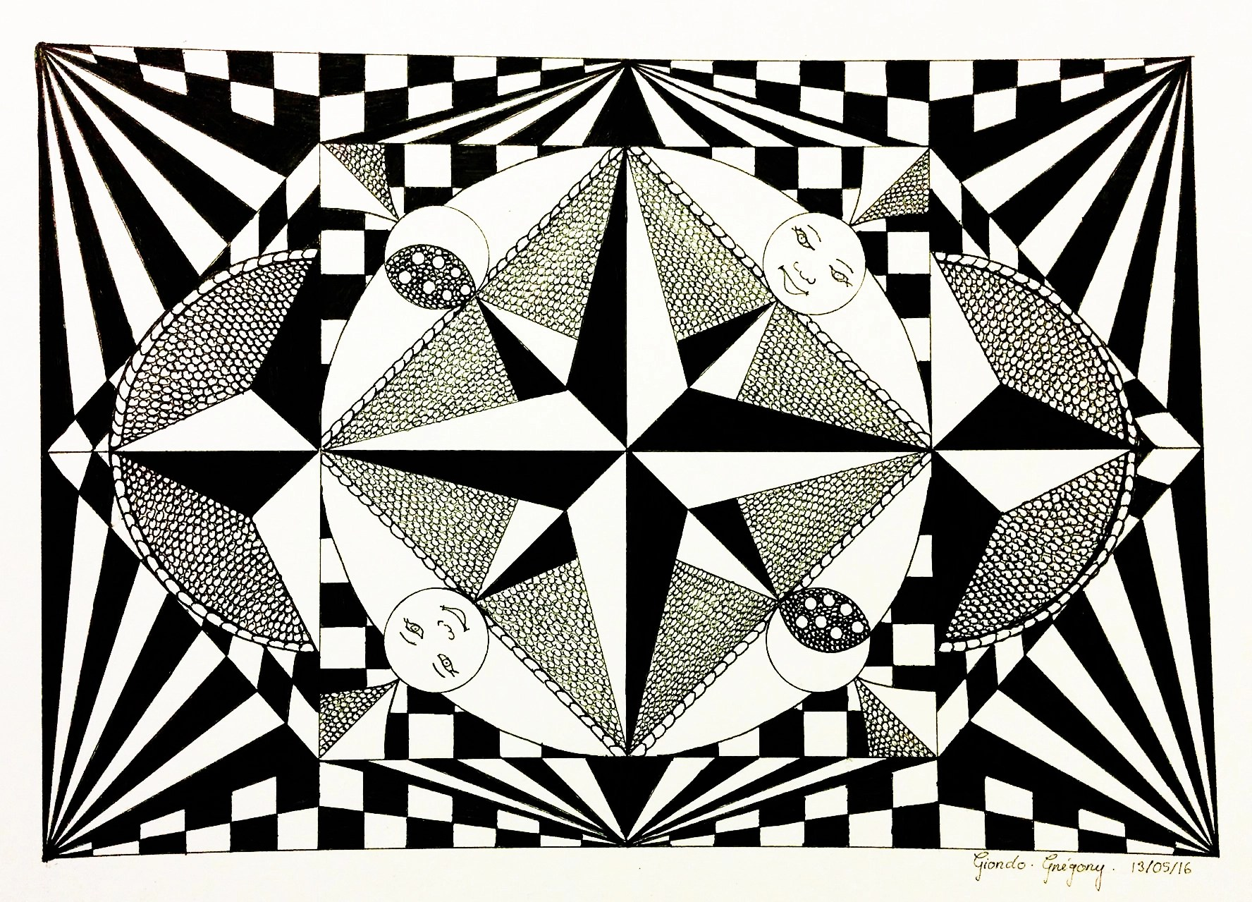 Op Art Greg Op Art Coloring Pages For Adults Justcolor