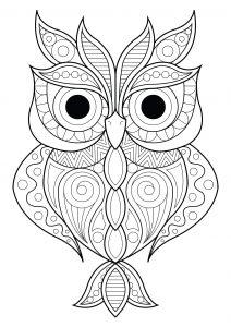 owl color pages # 1